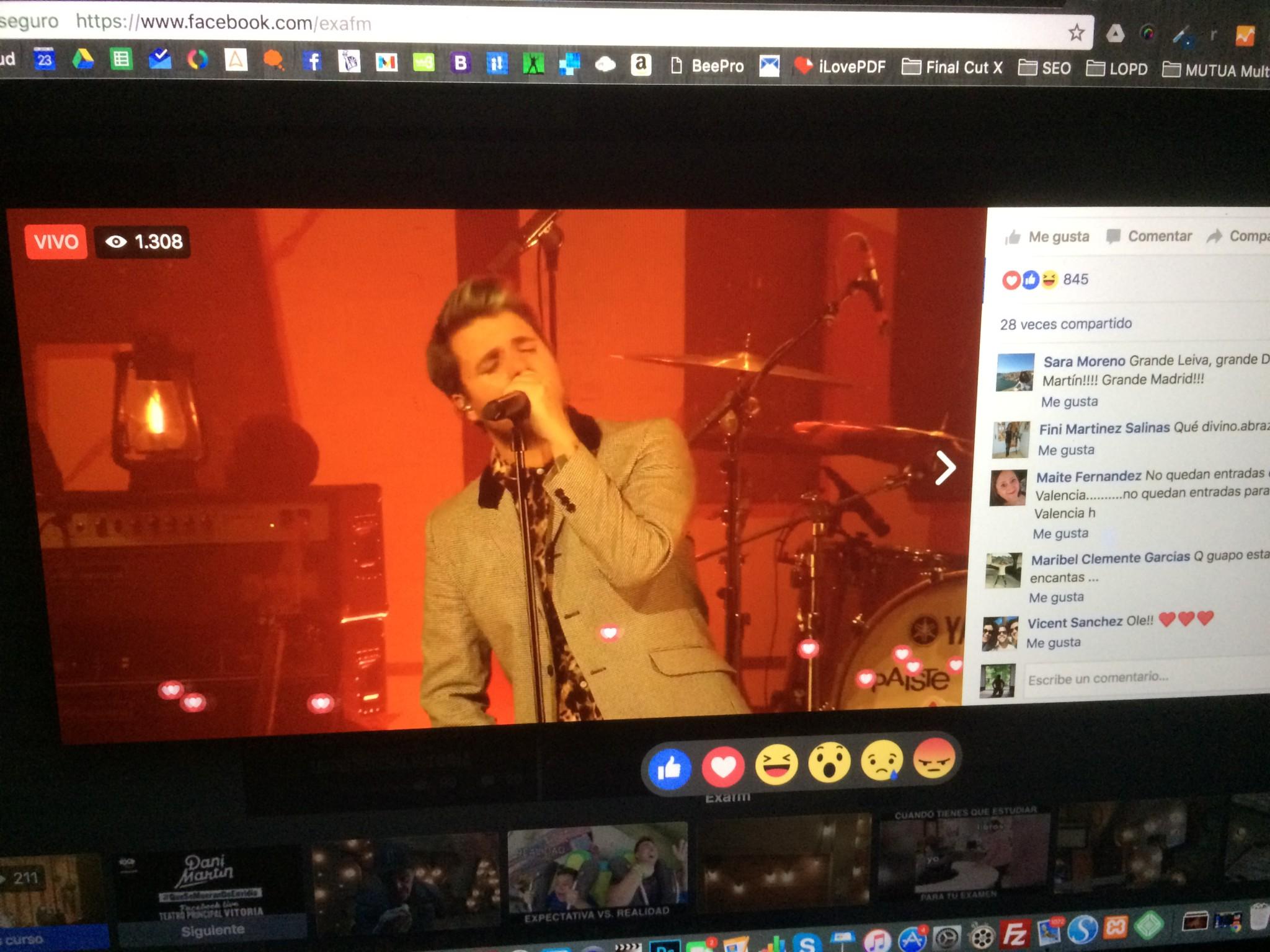 facebook live concierto dani martin