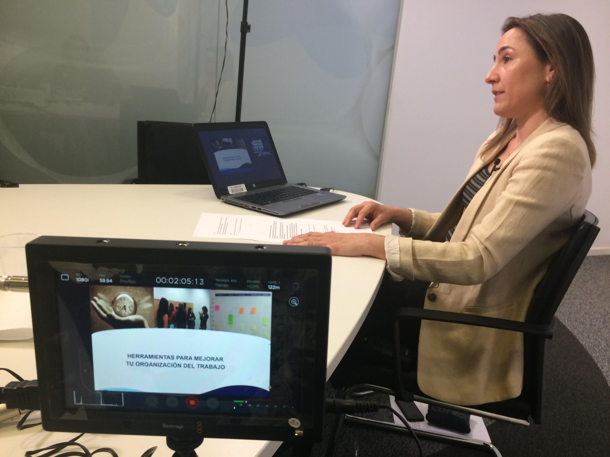 grabación de vídeos de formación