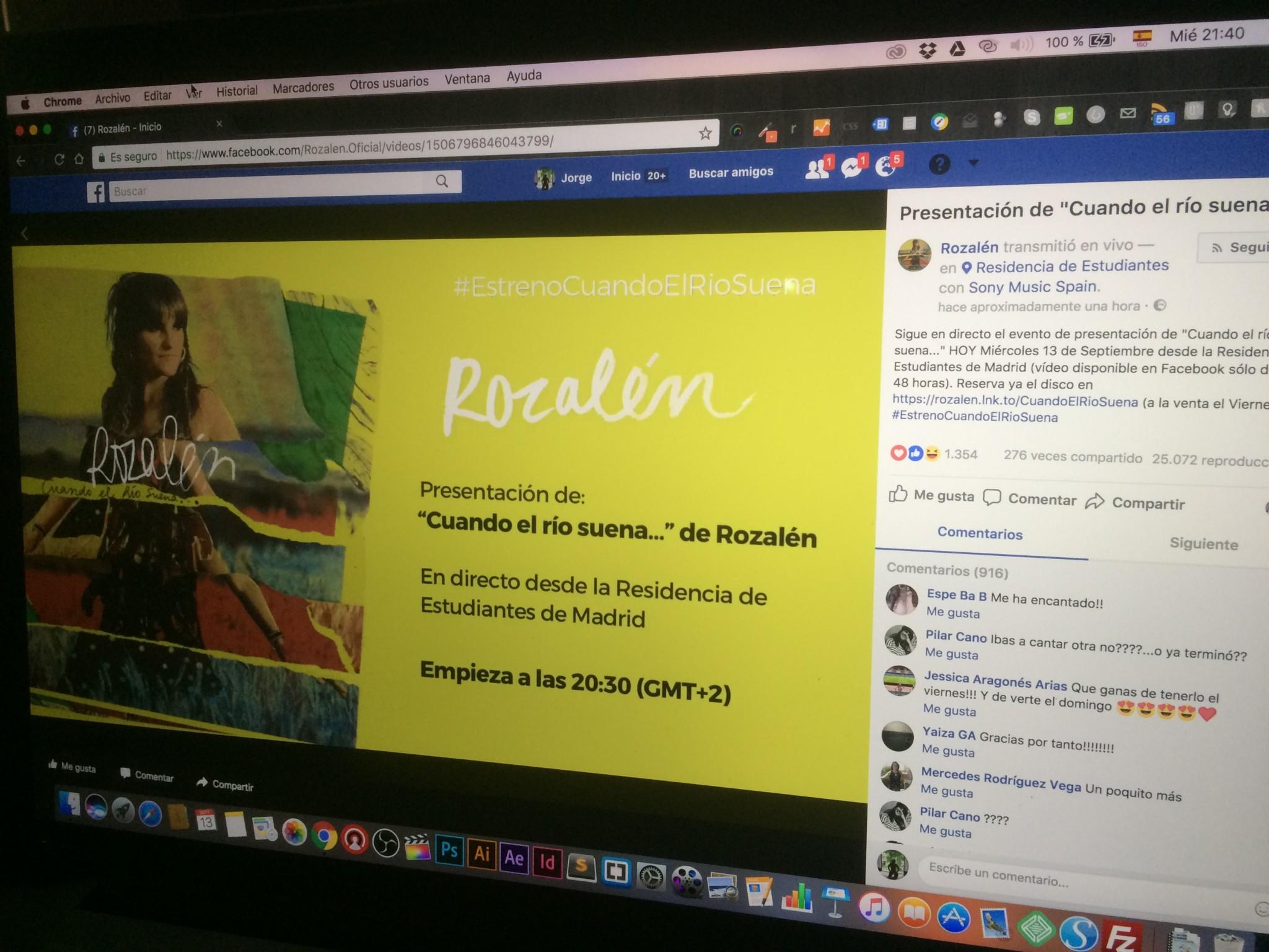 Presentación de disco por Facebook Live 4